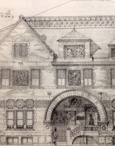 To see this sketch of the Trinity Church Rectory made us so happy. It's so awesome to see the beginning designs of something as iconic as this!
