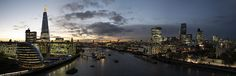 Taken from the Tower Bridge. 13 photos stitched together in PS... and one lovely panorama is the result.  Explored 10th of November, 2014.