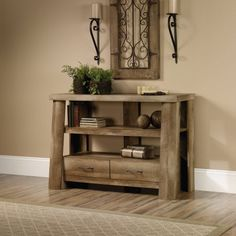 Sauder Boone Mountain Anywhere Console, Craftsman Oak Finish - Walmart.com