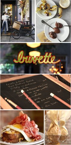 buvette next visit to NYC. this petite restaurant translates into kitchen ideas & love the serving dishes + plates!