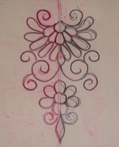 Free Motion Quilting Designs Flowers Machine Embroidery Ideas For 2019 Embroidery Neck Designs, Embroidery Flowers Pattern, Learn Embroidery, Hand Embroidery Patterns, Ribbon Embroidery, Floral Embroidery, Machine Embroidery, Outline Designs, Quilting For Beginners