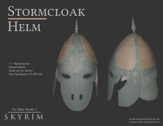 RocketmanTan has done it again. This is by far the best looking Skyrim cosplay papercraft helm available right now and I'm loving it! Halloween's going to be great this year However good things comes with expensive price. This helm does not require your money but it does require a lot of papers and time consuming. Skyrim's Stormcloack Helm Cosplay Papercraft requires 17 sheets of paper and medium difficult skills to build. Of course beginner can make this too The Stormcloaks are ...