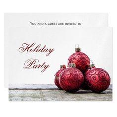 festive silver Holiday Party Invitations #christmas #xmas #snowflakes #invitations