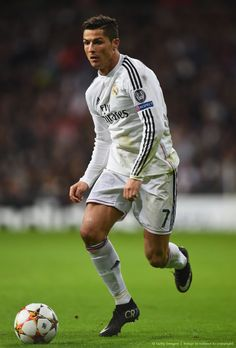 Cristiano Ronaldo of Real Madrid against Liverpool FC