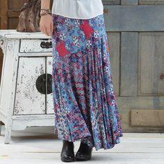 Ladies' Handkerchief Printed Maxi Skirt