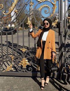 fashion hijab Hijab Chic - Mode Hiver 2019 - Hijab Fashion and Chic Sty. fashion hijab Hijab Chic – Mode Hiver 2019 – Hijab Fashion and Chic Style Hijab Chic, Casual Hijab Outfit, Hijab Dress, Casual Outfits, Classy Outfits, Modern Hijab Fashion, Street Hijab Fashion, Hijab Fashion Inspiration, Muslim Fashion