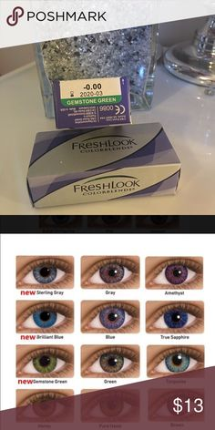 SALE⭐️⭐️COLOR CONTACTS✨GEMSTONE GREEN Non prescription Cosmetic use only  I will Include a free case!  FreshLook® COLORBLENDS® contact lenses use 3-in-1 color technology for a naturally beautiful look, whether you want a dramatic transformation or subtle enhancement. Even if your vision is perfect, experience a fresh, new look that's always you.  ✔️If it's listed it's available ✔️Price is firm Other