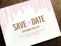 Save the Date Karte zum Selberdrucken  Rosa Regen von empapers, $19.00