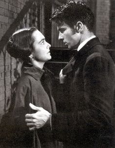 "Montgomery Clift and Olivia de Havilland in ""The Heiress""  1949.  One of my all time favorite films.  The movie is based on a Henry James story and one for which Miss DeHavilland won an Oscar."
