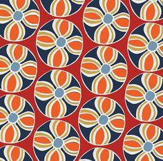 orange blue pattern