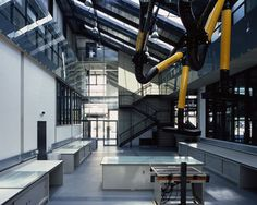 industrial material_exposed services_theatre architecture_the dyson building_haworth tompkins Theatre Architecture, Building Architecture, Helene Binet, Royal College Of Art, London Art, Dezeen, New Homes, Industrial, Gallery