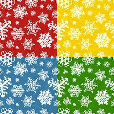 Set of four winter seamless patterns. Christmas Patterns. $5.00