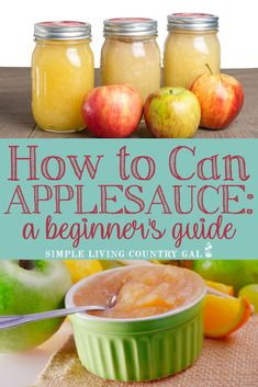 Learn how to can applesauce with this super simple and fun step by step guide. Fill your pantry with summer goodness you & your family can enjoy all winter! Canning Apples, Canning Vegetables, Canning Tips, Canning Recipes, Canned Applesauce, Homemade Applesauce, Applesauce Recipes, Apple Recipes, Healthy Recipes