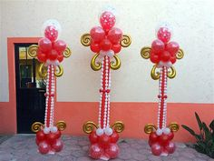 Como hacer una columna elegante para san valentin, bodas o XV años # 19