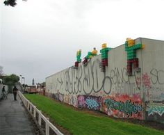 'Crate Man' is another great example of Melbourne's diverse street art scene.