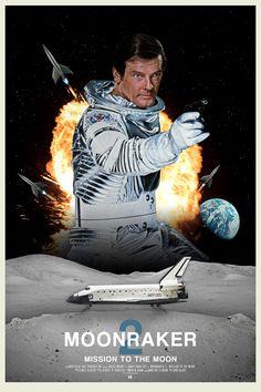 James Bond Moonraker sequel posters