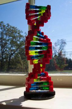 DIY : LEGO DNA Keep calm and build LEGO - If you ♥ LEGO®, come and have a look at the crowdest LEGO® LOVE group board http://www.pinterest.com/yourfrenchtouch/lego-love #LEGO
