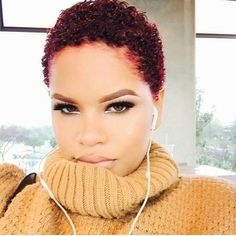 Sensational Low Cut And Shaved Sides This Is So Cute Naturalhair Hairstyles For Women Draintrainus