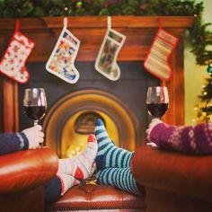 Feeling festive in our Christmas socks!