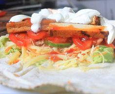 The Quick Lunch: Sweet chilli grilled tofu wrap - lunch in 5 minutes! // The Veggie Mama
