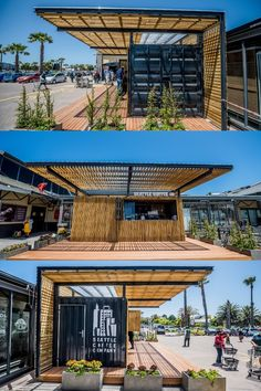 Topshell converted a grade B shipping container into a contemporary coffee shop. Client: Seattle Coffee Company #shippingcontainers #containerconversions #coffeeshopcontainer #containershop #containerized #convertedcontainers #coffeeshopdesign Container Coffee Shop, Shipping Container Conversions, Seattle Coffee, Coffee Shop Design, Coffee Company, Medical Center, Conversation, Contemporary, Luxury