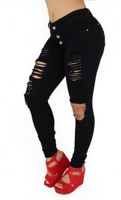 Maripily Women Black Ripped Butt Lifting Skinny Jean – This enhance Maripily Skinny Jean are designed to shape your silhouette!