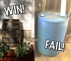 3 Cheap DIY Rain Barrels That Actually Look Nice! | The Fun Times Guide to Living Green. Nice video at the bottom about DIY rain chains.