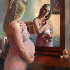 The Wait and the Reward  by Anna Bain Oil30 x 30