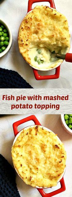 Fish pie with mashed potato topping, my kind of comfort food. Perfect for the cold weather ahead. Healthy Family Meals, Healthy Dinner Recipes, Healthy Snacks, Easy Pie Recipes, Fish Recipes, Savoury Recipes, Quick Fish, Potato Toppings, Fish Pie