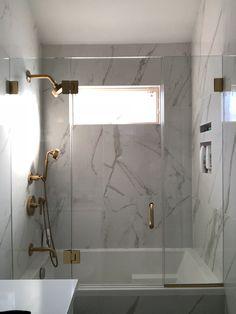 Shower Enclosures Types: Frameless, Semi-Frameless and Framed Frameless Sliding Shower Doors, Frameless Shower Enclosures, Framed Shower Door, Glass Shower Doors, Bathroom Renos, Bathroom Fixtures, Bathrooms, Modern Shower, Modern Bathroom