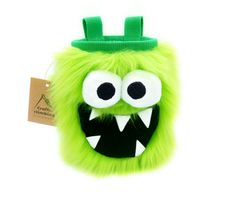 Green Five Toothed Monster Chalk Bag