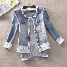 Best 11 Old denim jeans are such great things to recycle into other things. Op shops always have heaps of jeans for cheap – SkillOfKing. Artisanats Denim, Denim And Lace, Diy Clothing, Sewing Clothes, Sewing Aprons, Denim Aprons, Clothes Crafts, Cut Shirt Designs, Kleidung Design