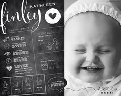 ©poppy-designs | custom designed one year baby infographic by poppydesignsboutique