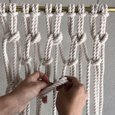 "1,017 Likes, 42 Comments - E L S I E    G O O D W I N (@reformfibers) on Instagram: ""How to Create Clove Hitch Mesh // First things first, I did not win the Etsy Small Business…"""