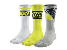 Nike Dri-FIT Fly Rise Crew Socks (Large/3 Pair)