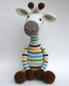 Ravelry: Giraffe Gijs pattern by Stip & Haak Giraffe Crochet, Crochet Toys, Crochet Baby, Knit Crochet, Doll Patterns, Knitting Patterns, Crochet Patterns, Knooking, Giraffe Art