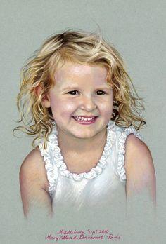 Head to Shoulders- Children's Portraits Pastel Portraits, Watercolor Portraits, Pastel Paintings, Watercolour, Baby Drawing, Pastel Drawing, Soft Pastel Art, Colored Pencil Portrait, Pencil Drawings