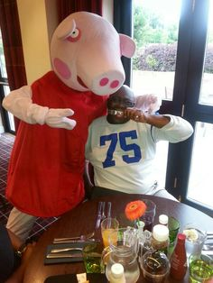 DJG  and Peppa Pig rocking out together fresh pork on the menu lol