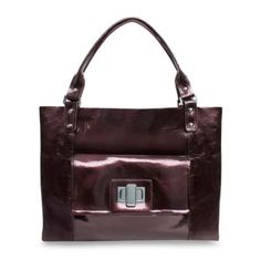 Amy Michelle™ Cosmo™ Diaper Bag in Pearlized Chocolate - BedBathandBeyond.com