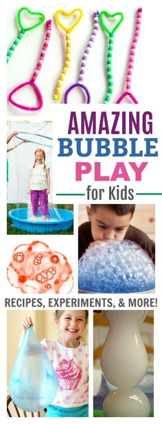 25 SUPER FUN WAYS FOR KIDS TO PLAY WITH BUBBLES!! (Recipes, experiments, & more!)