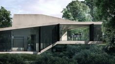 Stelios Zenieris, from MORFO Architectural Visualization studio, posted the KBC house visuals on the forums back in February this year. The frame of the uniquely shaped house 'bathing' in trees captured me and I wanted to learn more about this project and What Is Rendering, 3d Rendering, Visualization Tools, 3d Architectural Visualization, Architecture Visualization, External Render, Rendering Software, Photorealistic Rendering, Creative Suite