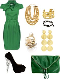 Punk Emerald Chick, created by awkdelicious on Polyvore