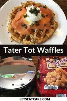 A waffle iron and a bag of tater tots are all you'll need to make Tater Tot Waffles, the breakfast comfort food you didn't know you needed. Tots are cheap, many of us have waffle irons languishing in our cupboards, and the convenience of an electric appliance allows us to make a plate of potatoes feel like home-cooked comfort food. #pantrystaplerecipes #quarantinerecipes #totwaffles #easybreakfastrecipe #easywafflerecipe #howtomakewaffles