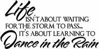 Wall Quotes Dance in the Rain Vinyl Wall Quote