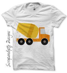 Iron on Cement Truck Shirt PDF, Printable Design IT232-C...