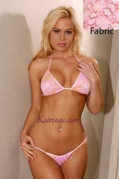 Katrinas Pink Lace Scrunch Bikini/Made in usa/Lingerie/Adult/Model/Dancer/s-m #Katrinascom