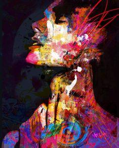 "Digital 2014 New Media ""trans-personal karma"" Original Paintings, Original Art, Graffiti, Creation Photo, Karma, 3d Street Art, Rainbow Art, Arte Pop, Art Design"