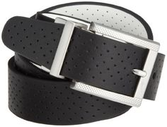 NIKE Golf Perforated Reversible Belt (Black/White, 34) Nike. $50.00. Breathability, Reversible technology. Perforations along strap. Pivoting reversible buckle. Soft nappa leather. Brushed metal finish buckle with Swoosh