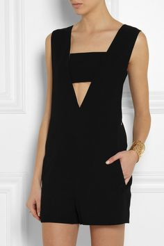 T by Alexander Wang black playsuit