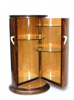 Art Déco 1925 rare et luxueux meuble de salon forme Somno attribué à DIM